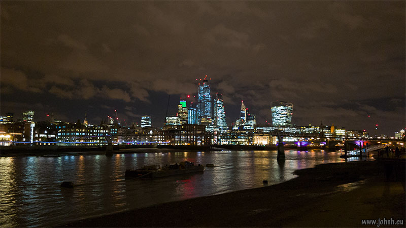 Lights of the City of London from Southwark