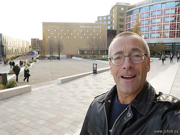 Selfie at Television Centre in West London