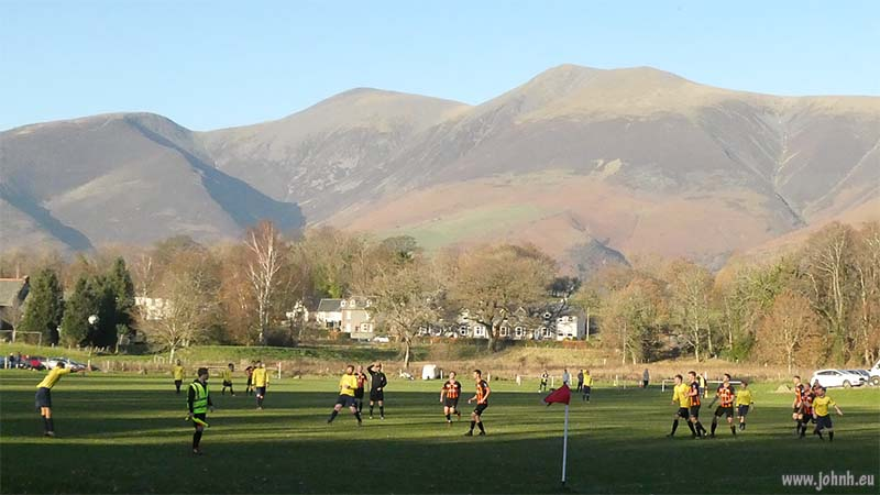 Keswick FC playing at home