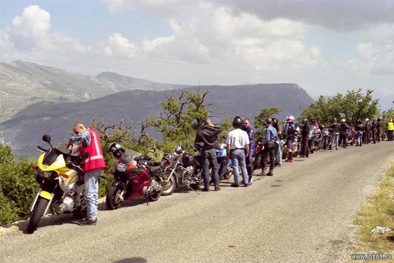 Above the Grand Canyon du Verdon, GLME Summercamp 98 in Provence, organised by AMA