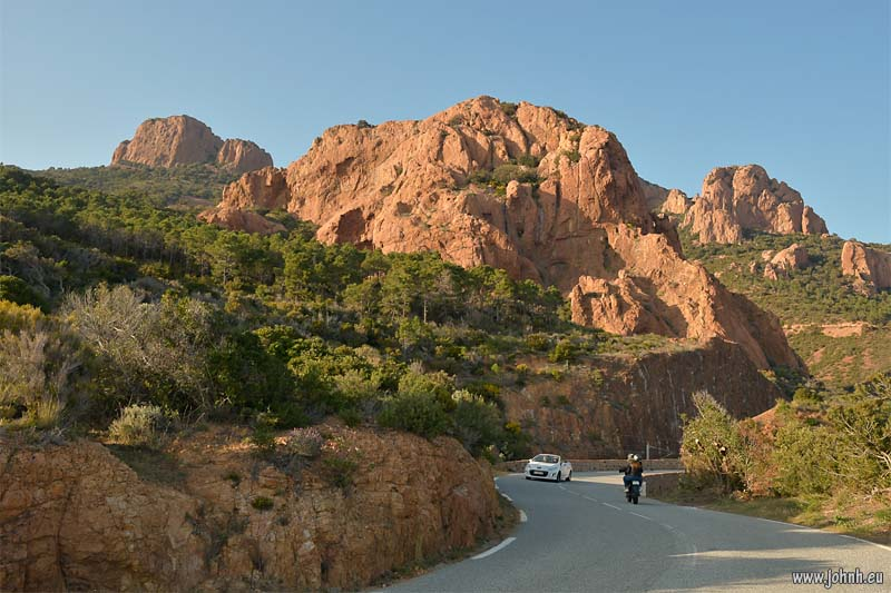 Red rock of the Esterel Massif