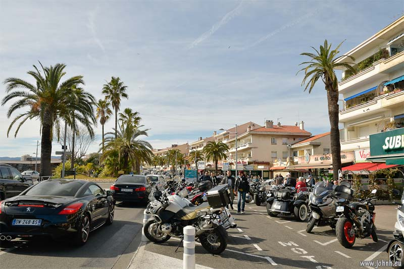 Bikers at St Raphael sea front