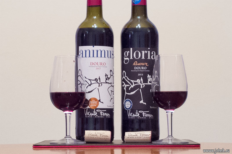 """Animus"" Douro 2017 and ""Gloria"" Reserve Douro 2015"