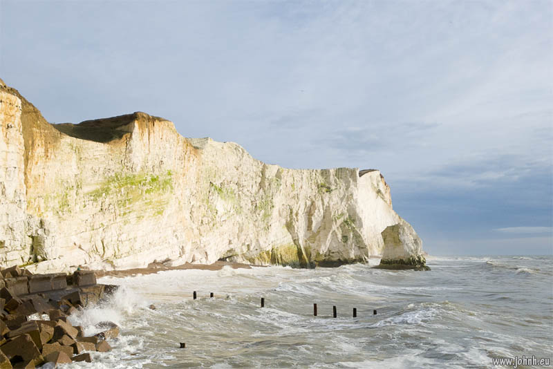 Chalk cliffs at Seaford, Sussex