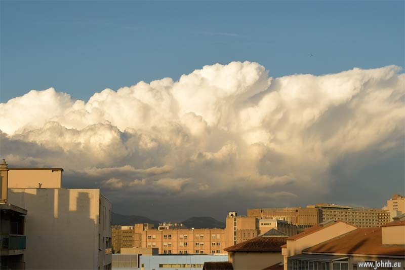Cloudscape at sunset in Marseille