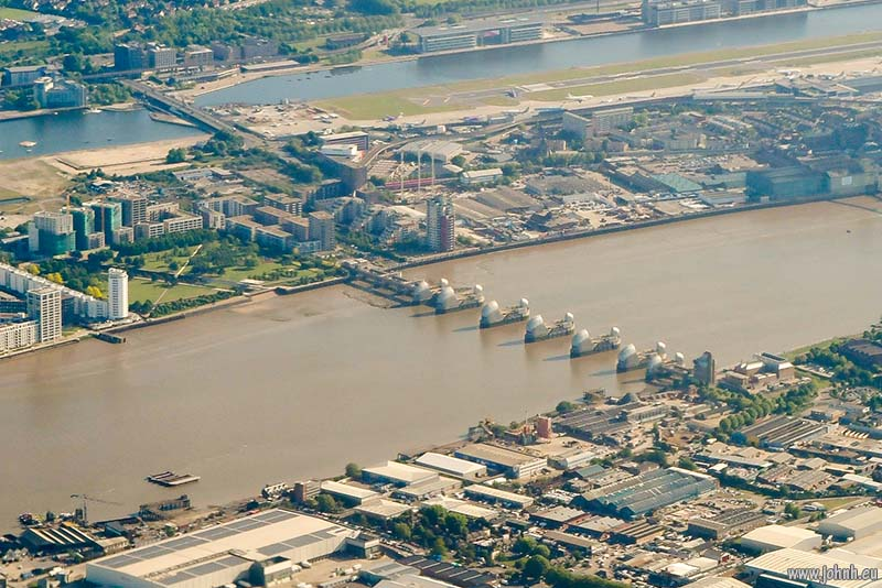 Thames Barrier and London City airport