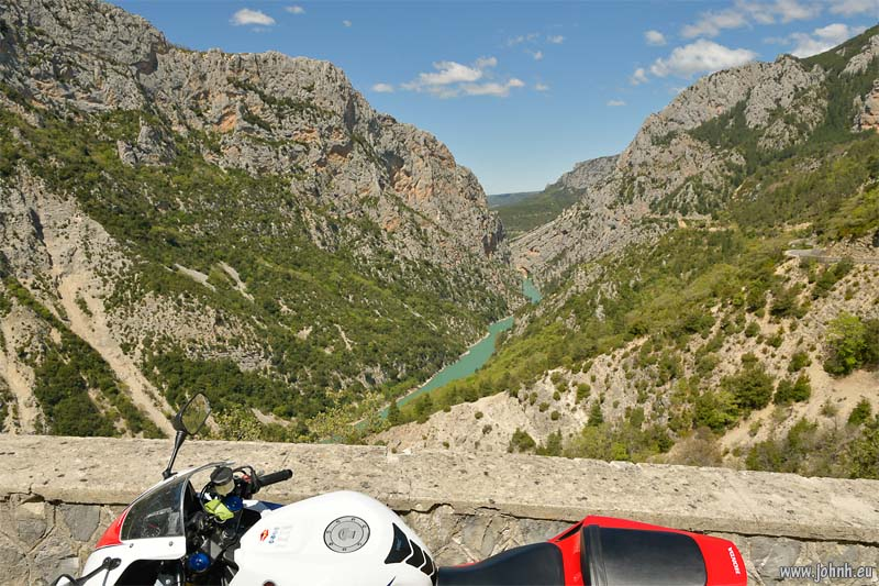 North side route of the Grand Canyon du Verdon