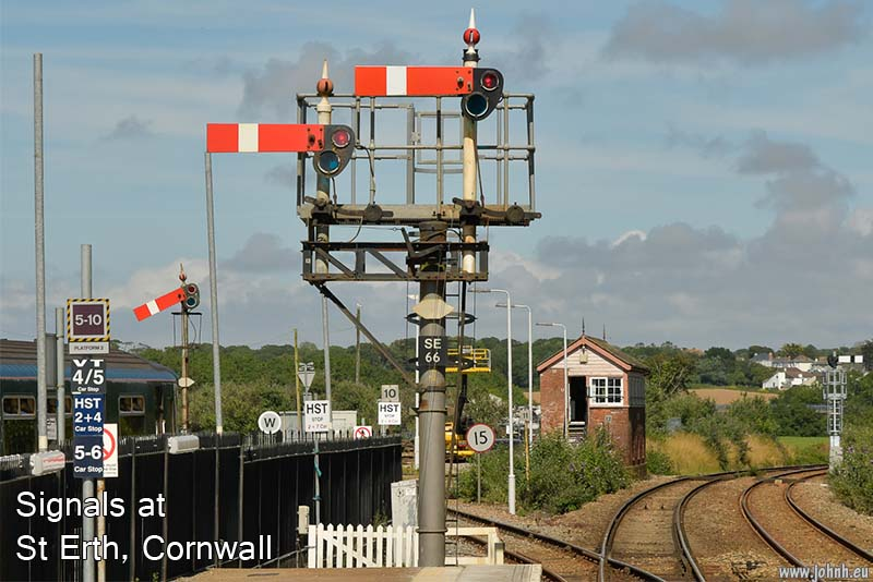 Old signals, GWR, St Erth, Cornwall