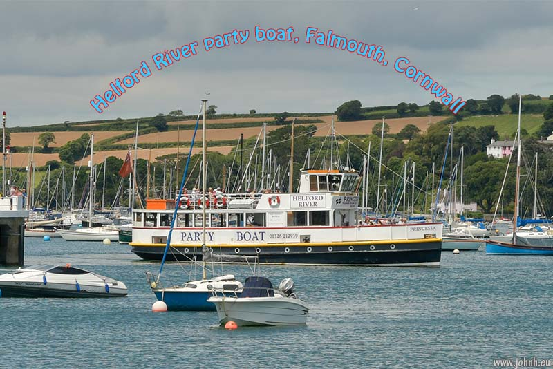 Helford River party boat, Falmouth, Cornwall