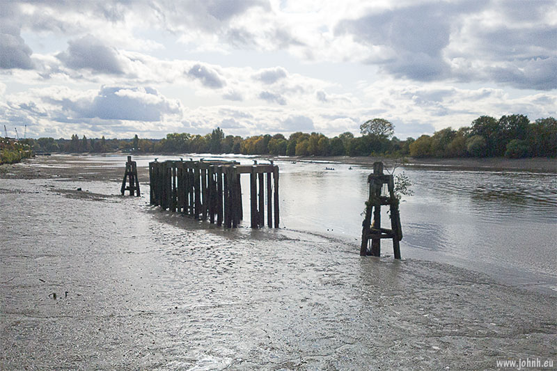 Low Water on the Thames at Palace Wharf, Fulham