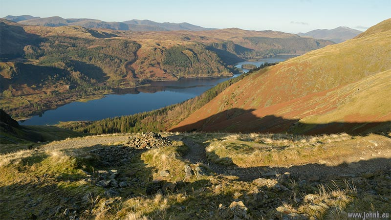 Hiking up from Thirlemere to the summit of Helvellyn