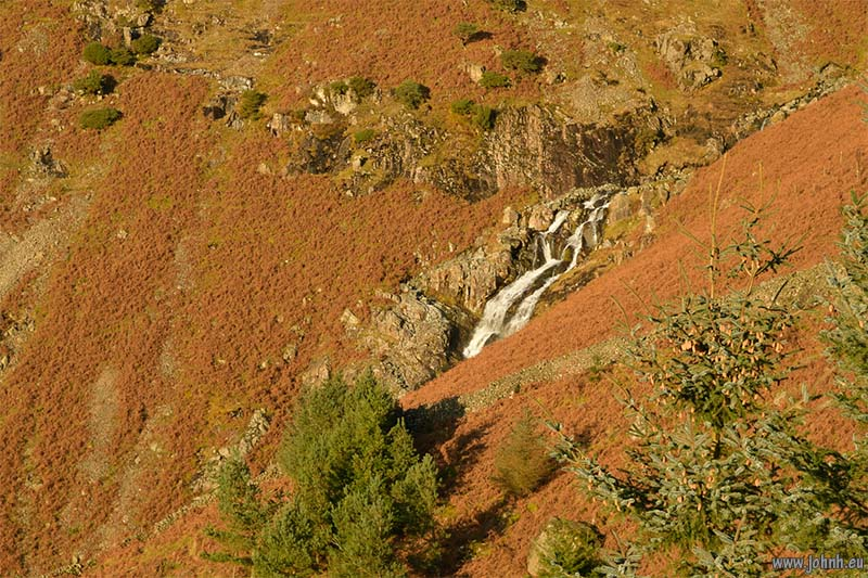 waterfalls on Whelpside Gill, Helvellyn.