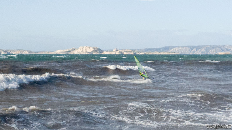 Surfers at Pointe Rouge, Marseille
