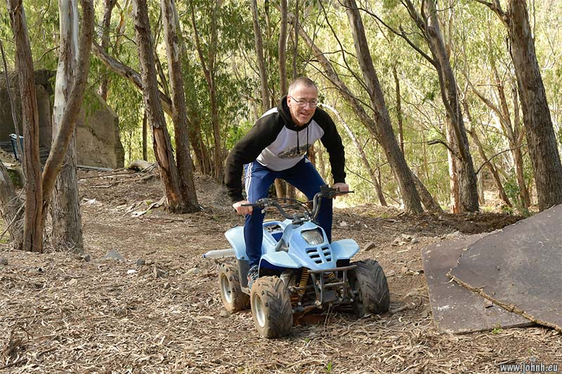 On a mini-quad bike, Madeira