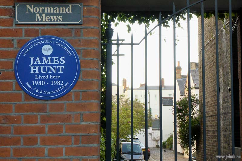 James Hunt blue plaque, London W14