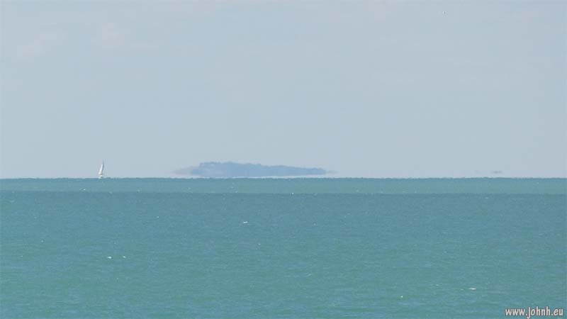 The Isle of Wight, seen from Seaford