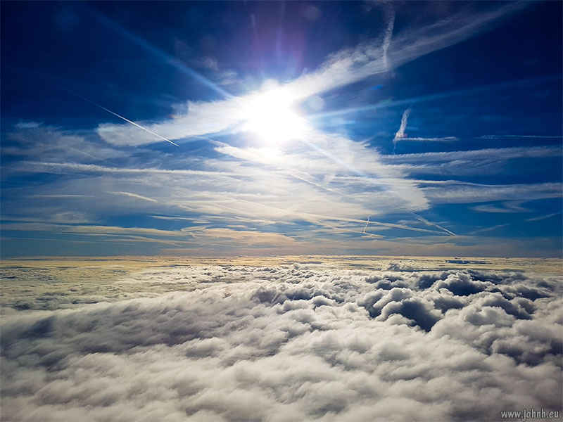 Flying through the cloud layer and into the stratosphere