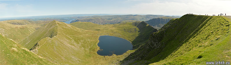 Summit panorama, Helvellyn, Lake District National Park