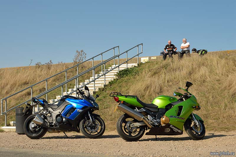 Z1000SX and Ninja ZX12R bikers at Seasalter, Kent