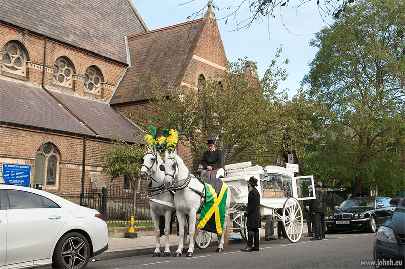 Funeral at St Andrews, Fulham Fields, London W14