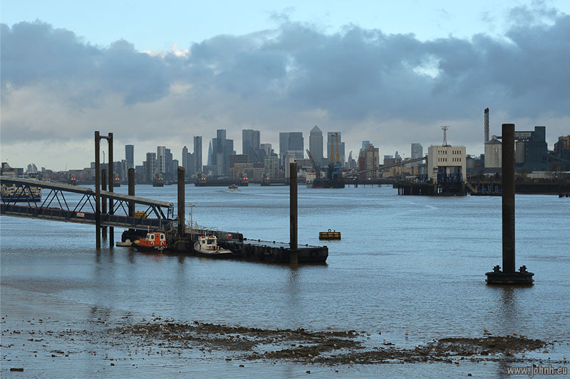 City of London seen from Woolwich Pier