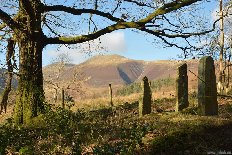 Late afternoon sunshine on Skiddaw, Cumbria