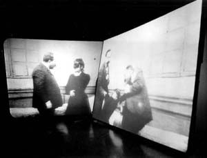 Hysterical (Double Projection Film Still) Douglas Gordon, 1995, Image courtesy Southampton City Art Gallery