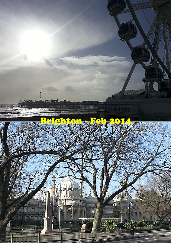 Postcard of my photos from Brighton - February 2014