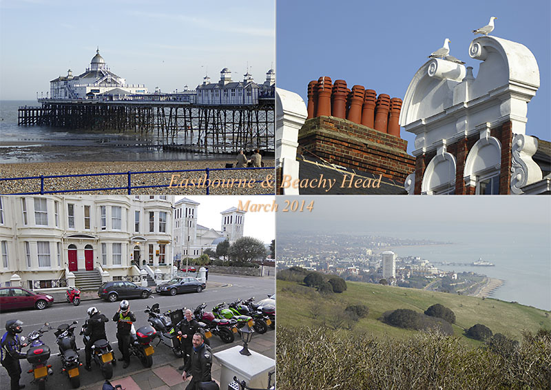 Postcard of my photos from a hike around Eastbourne and Beachy Head in Sussex