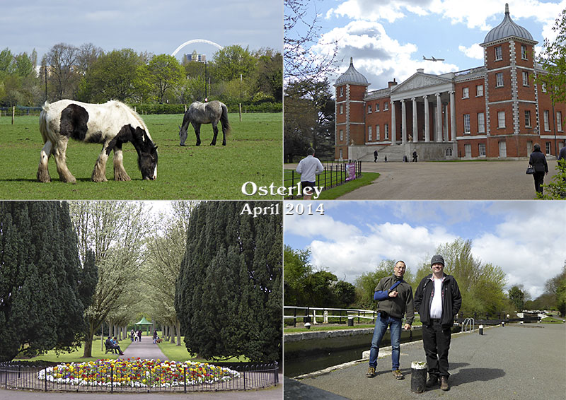 Postcard of my photos of a local hike to Osterley, near London Heathrow airport