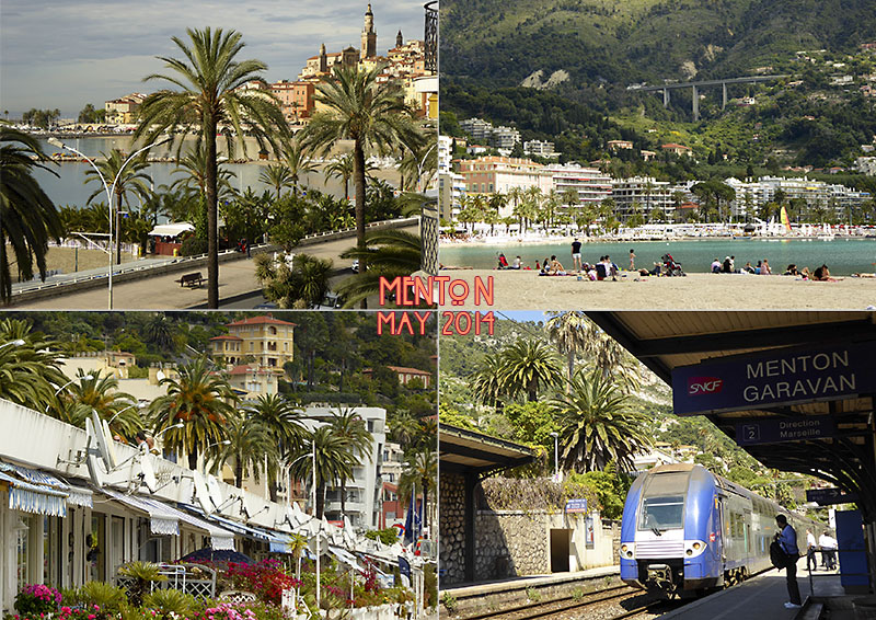 Postcard of my photos of Menton on the French Riviera