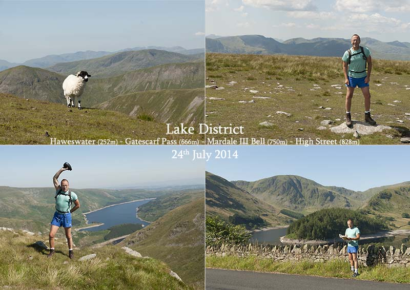 Photos of my hiking aroud Haweswater and up to High Street, Cumbria