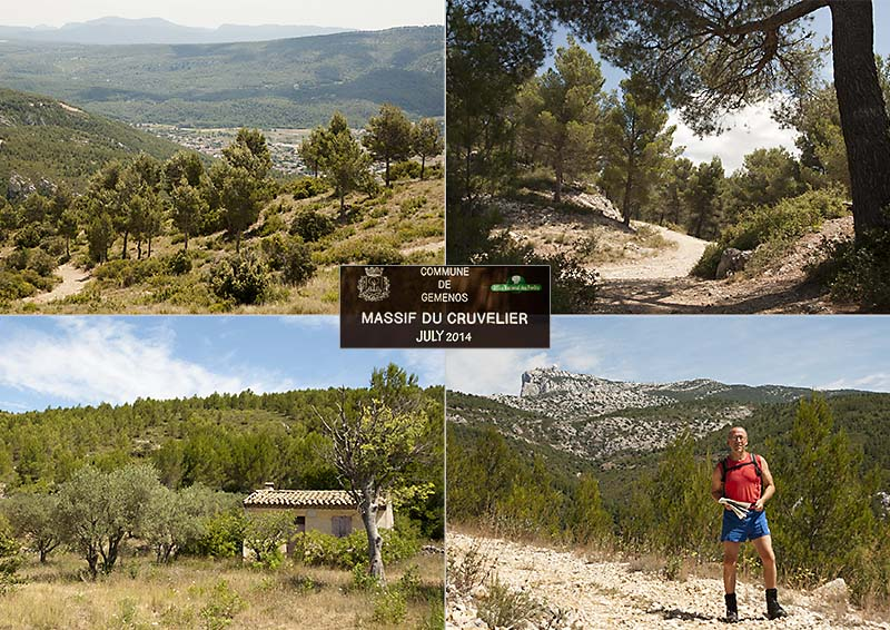 Postcard of my photos of a hike from Cuges-les-Pins to Gemenos, Provence - July 2014