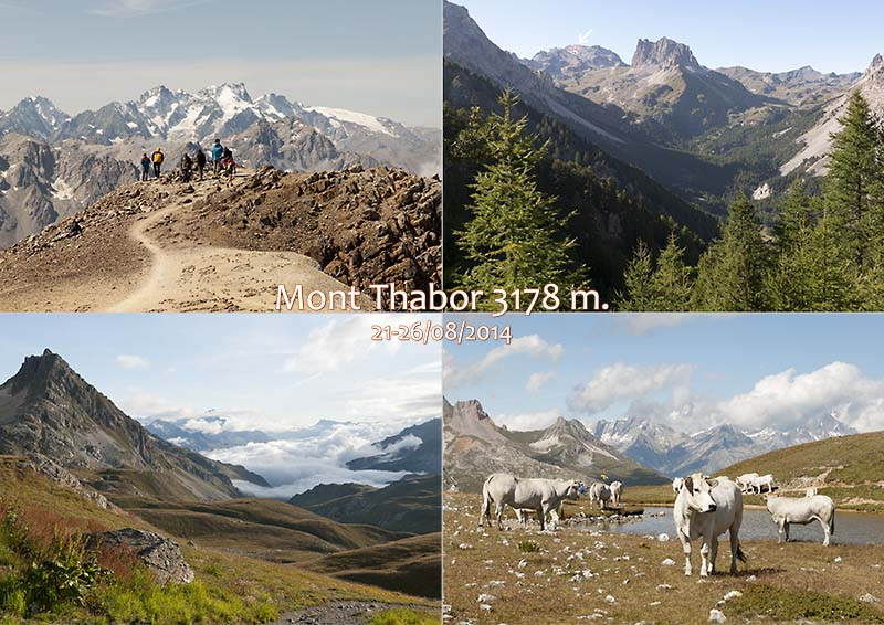 Postcard of my photos of views around Mt Thabor
