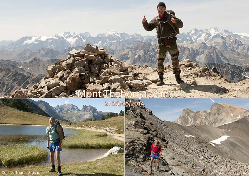 JohnHikerBiker hiking to the the summit of Mt Thabor in the Hautes Alpes of Provence