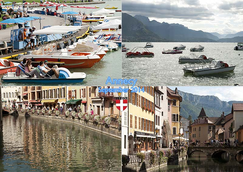 Postcard of my photos from Annecy in Savoie, September 2014