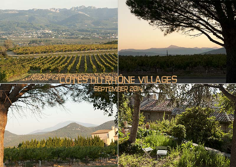 Postcard of my photos of the vineyards of the Villages des Côtes du Rhône near Rasteau