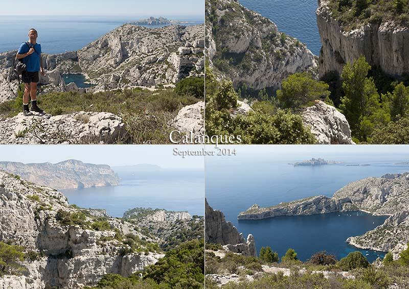 My photos of the Calanques under Mt. Puget between Marseille and Cassis