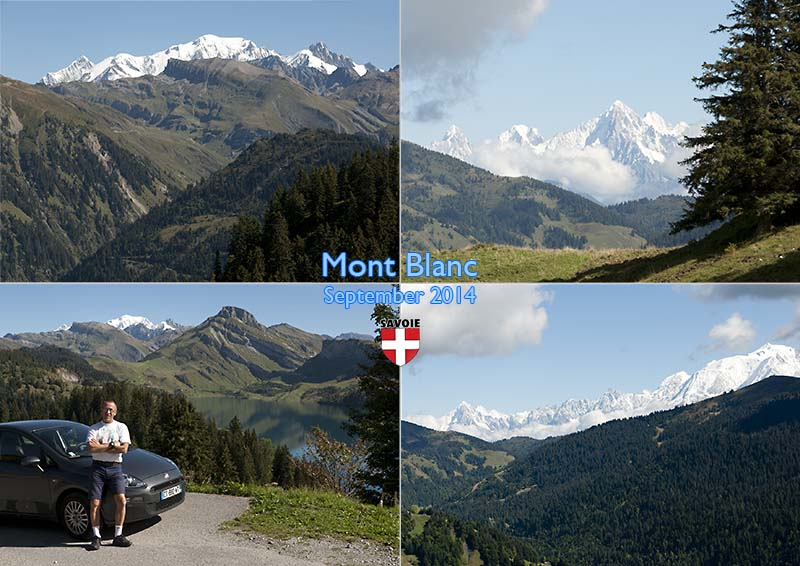 Postcard of my photos of views of Mont Blanc