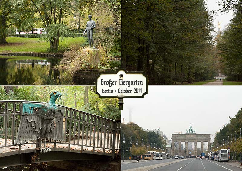 Postcard of my hike in the Großer Tiergarten in Berlin; October 2014