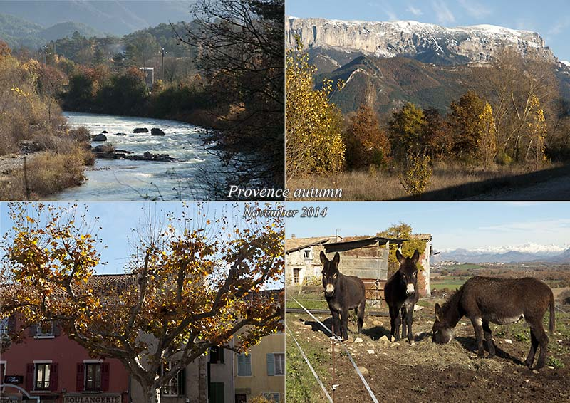 Postcard of my photos of autumn in Provence