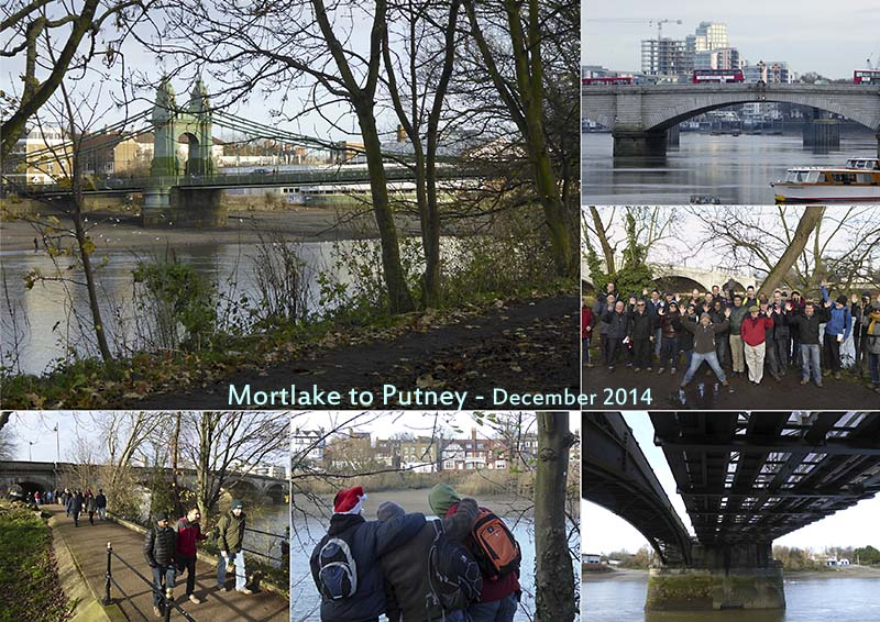 Postcard of my photos from a Christmas walk from Mortlake to Putney with GOC London