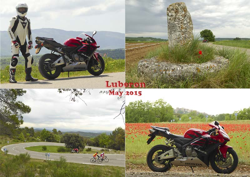 Postcard of my bike ride to the Luberon mountain and valley, Provence, May 2015