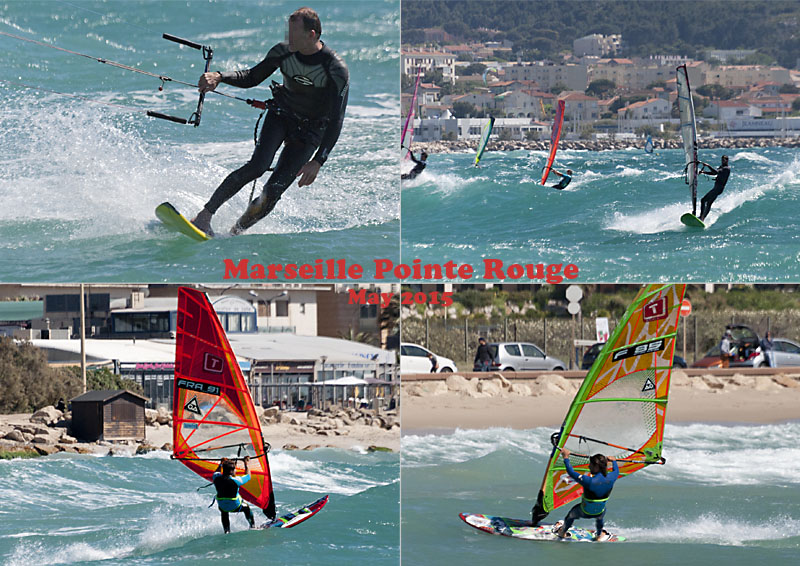 Surf sports at Pointe Rouge Marseille, May 2015