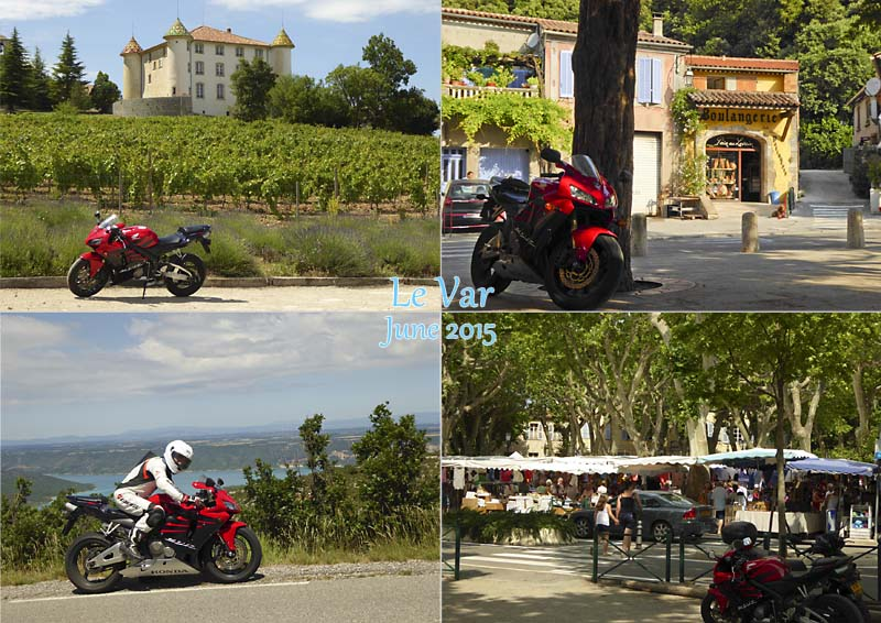 Postcard of some views from a satisfying and sporty ride round the Var