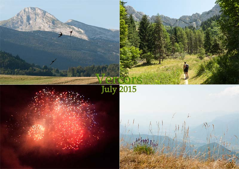 Hiking and fireworks in and around Villard-de-Lans, Vercors