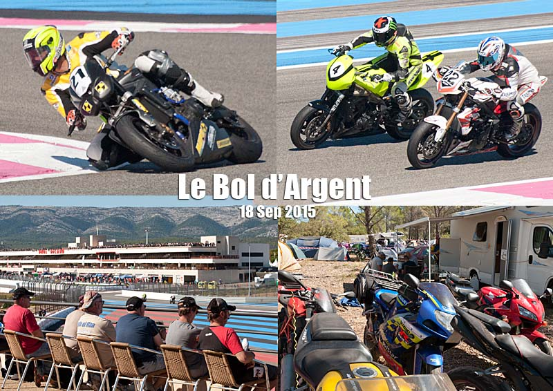 Postcard of my photos of the Bol d'Argent at the Circuit Paul Ricard at Le Castellet in the Var