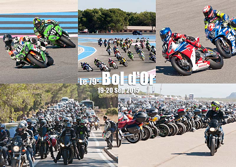 Postcard of my photos of the 79th Bol d'Or at the Circuit Paul Ricard at Le Castellet in the Var