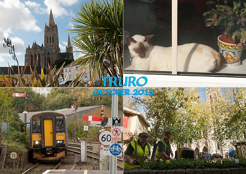 My photo postcard of Truro, the capital of Cornwall