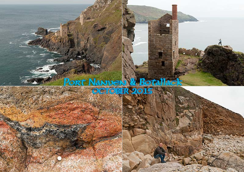 My photo postcard from West Penwith: Porth Nanven & Botallack mine ruins